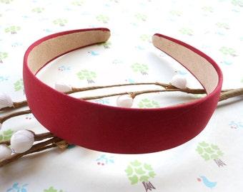 SALE--10 pcs 30mm Wide red Satin Headbands