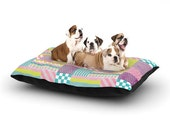 """Dog Bed - Louise Machado """"Patchwork"""" Great for Pet Lovers - Matches Dog Mats!"""