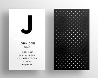 The Main Initial Business Card Template - Instant Download