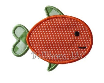 Fish Applique Design - Fish Embroidery Design - Summer Applique Design - Beach Applique Design - Camping Applique Design - Applique Design