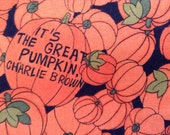 Fabric Material It's A Great Pumpkin - Great for Crafts and Projects Fat Quarter