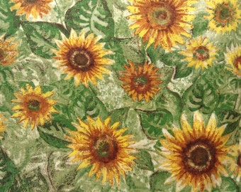 One Yard piece of Fabric Material - Sunflowers