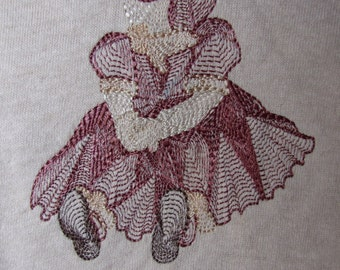 Large Tea Dyed vintage doll t-shirt