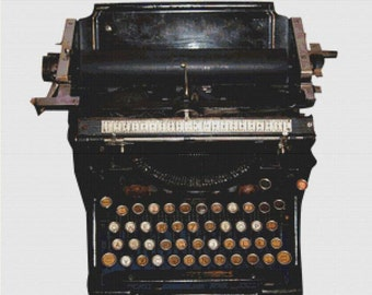 Typewriter PDF Cross Stitch Pattern