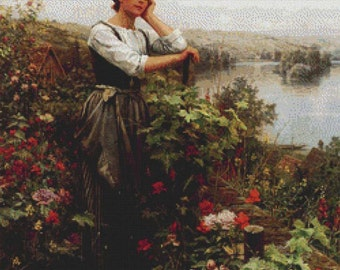 A Pensive Moment PDF Cross Stitch Pattern