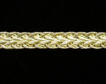 "625 Metallic gimp trim - ""Arrow"" - Bright Gold - 3/8"" (9mm)"