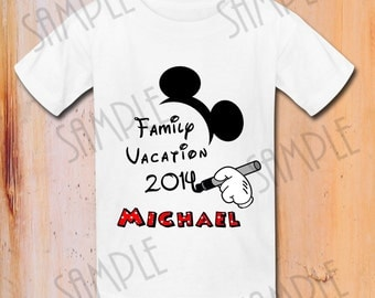 T-shirt Disney Family Vacation Iron On Transfer Mickey Mouse Printable trip to Disney digital download Personalized Disney Family Vacation