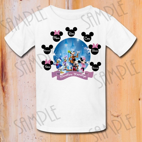 Disney family vacation t shirts iron on by fantasyprintables for Custom t shirts family vacation
