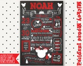 Mickey Mouse Birthday - Mickey Mouse Party - Mickey Mouse Chalkboard - Mickey Mouse Clubhouse - Mickey Mouse Birthday Party - Minnie Mouse