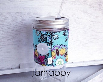 Coozie LESLEY for Mason Jar Drinking Glass Tumbler