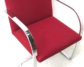 Pair of BRNO Barstock Chairs (Red Patterned)