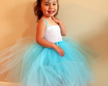 Frozen Elsa Tutu and Hair Clip - Princess Elsa Tutu and Bow - Kids Halloween Costume - Baby Halloween Costume