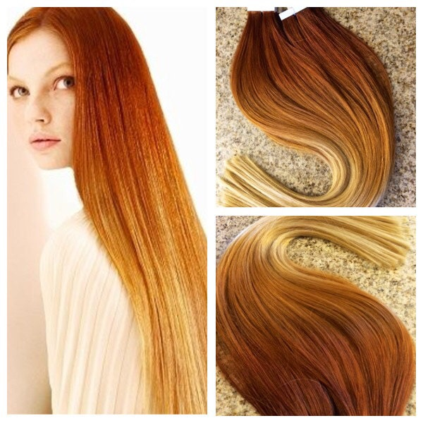 5 star ombre balayage cuticle remy human copper auburn ombre. Black Bedroom Furniture Sets. Home Design Ideas