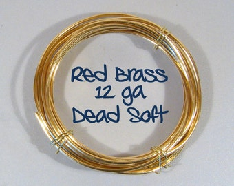 12ga 5ft DS Red Brass Wire