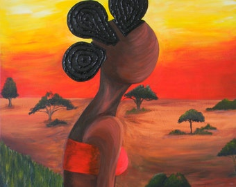 High Quality Giclee African Art print