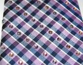 Purple and blue checkered rhinestone necktie