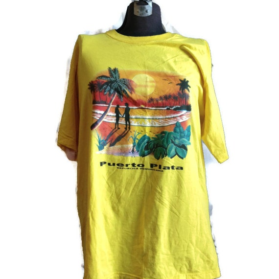 80 39 s vista tropical print t shirt republica by for Vista t shirt printing