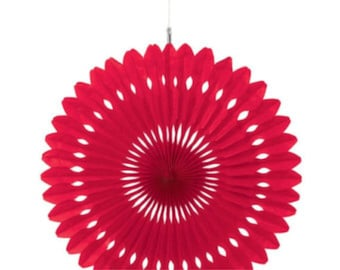 Red Paper fan / Photo booth prop / party decor / Pinwheel / Wedding backdrop / Pomwheel / Party Decoration / Pinwheel / Fan