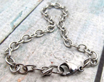 Stainless Steel Bracelet Chain - Finished Bracelet 6x4.5mm - Stainless Steel Chain - Medium Link Bracelet - Stainless Steel Bracelet (064)