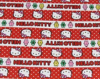 Per Yard, Hello Kitty Gingerbread Strip Fabric