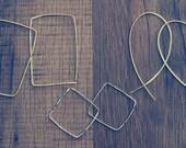 Inverted Hoops, Gold Hoop Earring, 14k gold filled Hoop Earring, Silver Hoops, Hammered, Rose Gold Hoops, Bronze Hoops