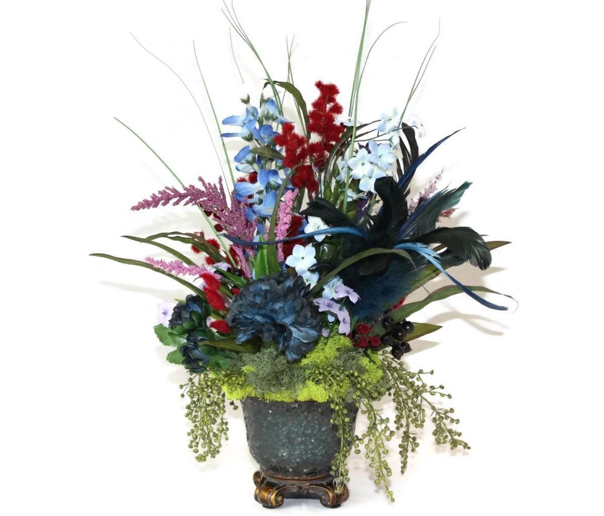 Office Silk Flower Arrangementsa Silk Flowers Brown Sage And