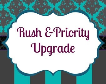 Upgrade to Priority Mail and Rush Processing