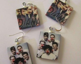 Earrings One Direction, 1D, Harry Styles, Directioners, Louis