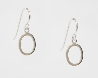 Sterling Silver or 14K Yellow or Rose Gold Oval Earrings