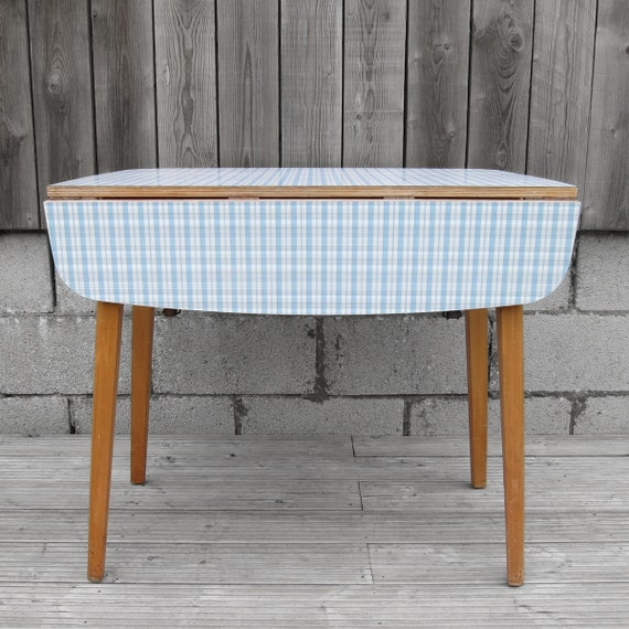 1950s 1960s Original Old Kitsch Blue Check Formica Melamine : il570xN5906248762upq from www.etsy.com size 570 x 570 jpeg 84kB