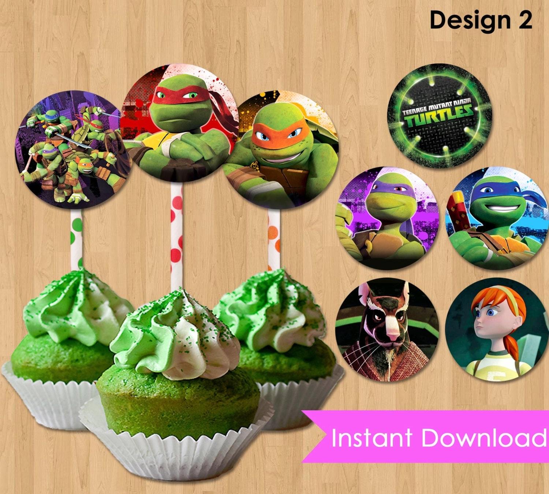 Teenage Mutant Ninja Turtles Cupcake Toppers INSTANT