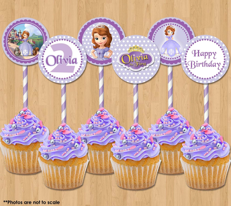 Princess Sofia Cupcake Toppers The First Printable 2