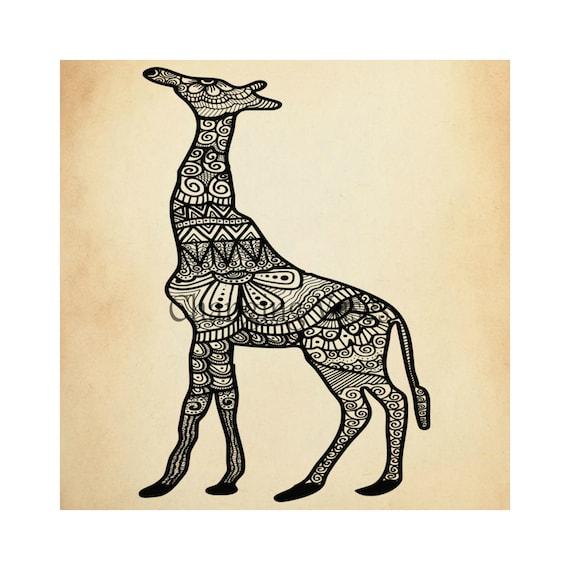 Mehndi Hands Clipart : Items similar to commercial use henna clip art giraffe