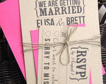 Wedding Invitation Set - Kraft Paper