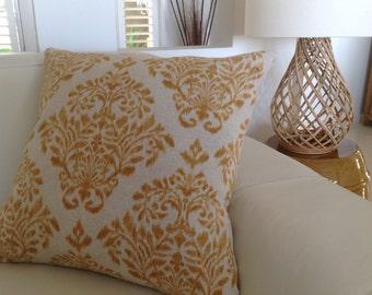 Designer Cushion Cover Modern Pillows Honey Cushions Mustard Pillows Charcoal Cushions Urban Coastal Ikat Designer Pillows Natural Scatter
