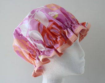 Shower Cap. Handmade.  PVC & BPA Free. Laminated Cotton. Eco - Friendly. Gift For Her.