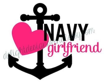 Navy  Girlfriend Decal