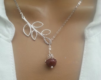 Lariat Style Brown Pearls Necklace