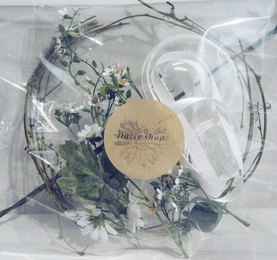 DIY Kit White Ivory Flower Crown Wedding Hairband Bridal