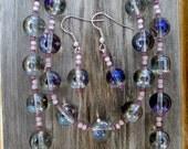 Purple Glass Jewelry Set