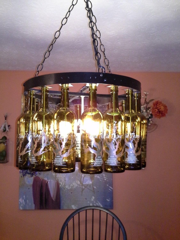 Wine bottle chandelier for How to make a bottle chandelier
