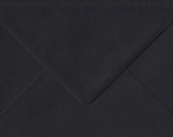 10 BLACK  envelopes C6  for cards and invitations