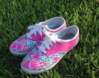 Lilly Pulitzer Inspired Painted Shoes