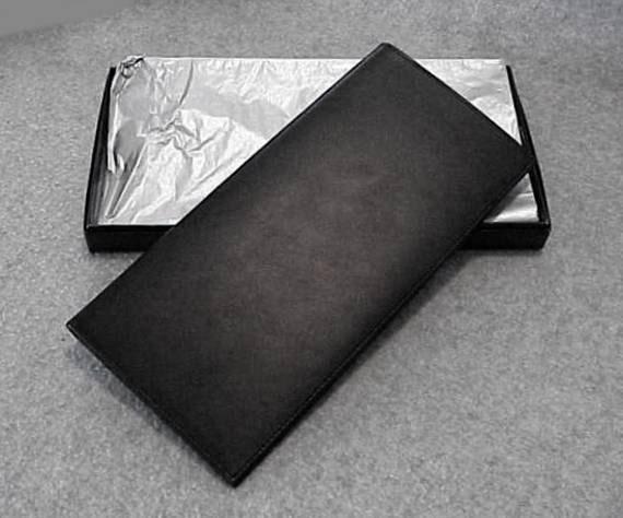 Mercedes benz black leather slim folio travel wallet passport for Mercedes benz wallet