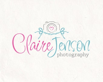 Photography logo design photography Watermark camera logo. Instant download digital download psd file