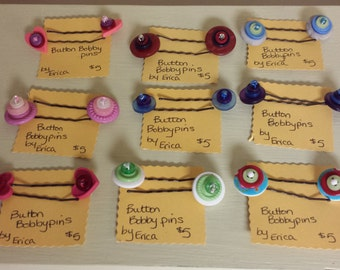 button bobby pins- free shipping