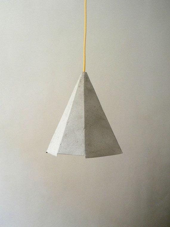 Paper Mache Lamp Morganite Lamp Pendant Light By CreaReDesign