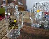 Rare Vintage Purdue Boilermakers Glass Mug made by Fisher Great Man Cave Piece for College Basketball Fans, from the 1980's