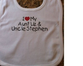 aunt and uncle baby bib, aunt and uncle baby clothes, aunt and uncle names, aunt and uncle baby clothing, aunt and uncle baby gift