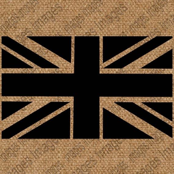 British Flag Union Jack Black and White Digital by ...
